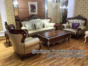 Set Sofa Tamu Ukir Ganeva Terbaru