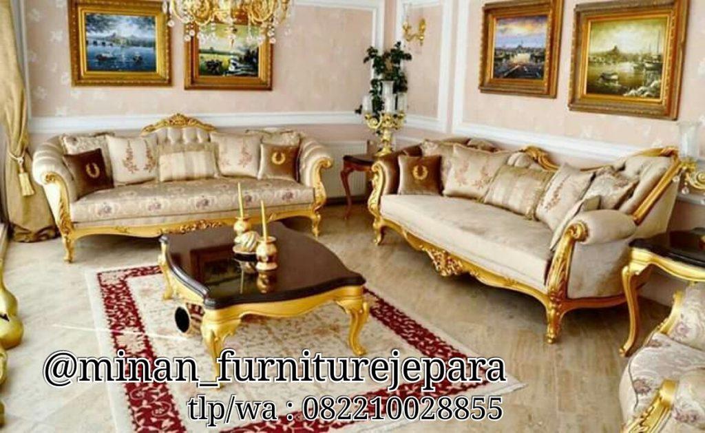 Set Sofa Tamu Gold Milenia