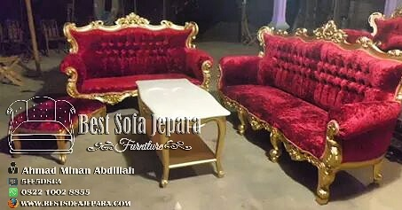 Set Sofa Tamu Ukir Gold