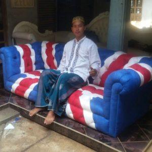 Sofa Jok Chesterfield Bendera Inggris