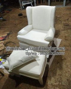 Wing Chair White
