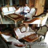 Set Sofa Tamu Romawi Natural